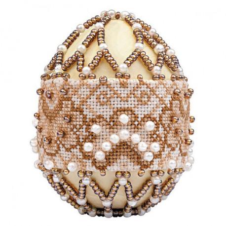 """Яйцо """"Капучино"""", набор для бисероплетения. Риолис"""