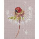 Мгновения лета. Божья коровка, набор для вышивания крестиком 16,5х20,5см 21цвет Panna