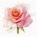 Дыхание розы. Нежность, набор для вышивания крестиком, 24х24см, 33цвета Алиса