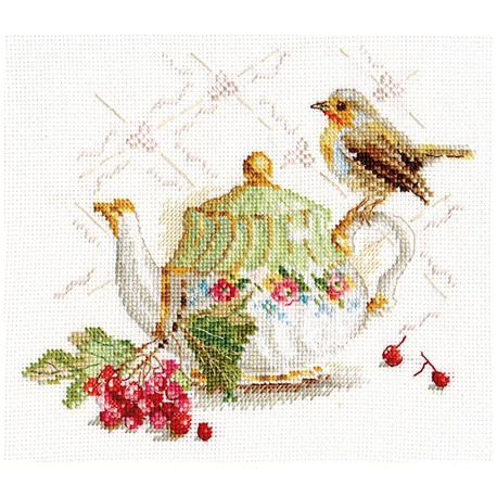 Нечаянная гостья, набор для вышивания крестиком, 18х15см, 30цветов Алиса