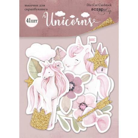 Unicorns, набор высечек для скрапбукинга 41шт. Scrapmir