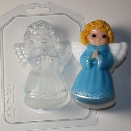 Ангелочек, пластиковая форма для мыла 75г 96х63х28мм XD
