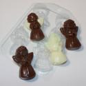 Ангелочек (4мини), пластиковая форма для мыла XD