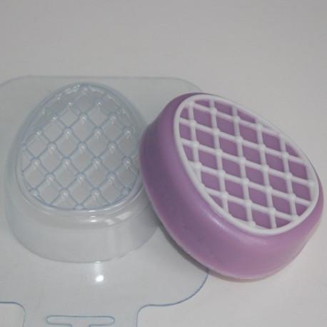 Яйцо сетка, пластиковая форма для мыла 95г 79х65х25мм XD