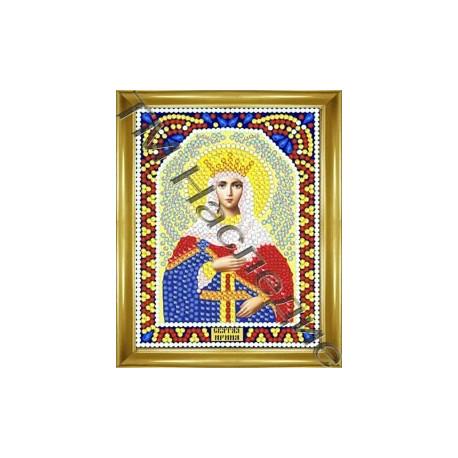 Ирина, набор для изготовления иконы круглыми стразами 10,5х14,5см 11цв. частичная выкладка