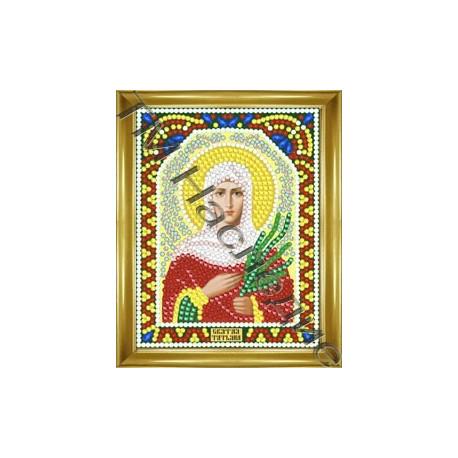 Татьяна, набор для изготовления иконы круглыми стразами 10,5х14,5см 10цв. частичная выкладка
