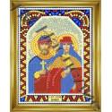 Петр и Феврония, набор для изготовления иконы круглыми стразами 10,5х14,5см 10цв. частичная выкладка