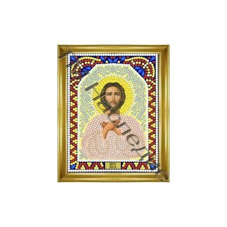 Алексей, набор для изготовления иконы круглыми стразами 10,5х14,5см 8цв. частичная выкладка