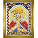 Людмила, набор для изготовления иконы круглыми стразами 10,5х14,5см 10цв. частичная выкладка