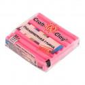 Розовая Фуксия, полимерная глина эффект матового стекла запекаемая 52гр Craft&Clay