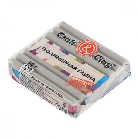 Серый Слон, полимерная глина эффект матового стекла запекаемая 52гр Craft&Clay