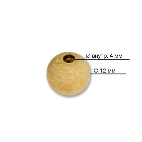 Св.дерево, бусины дерево покрыты лаком 12мм 50шт, Zlatka