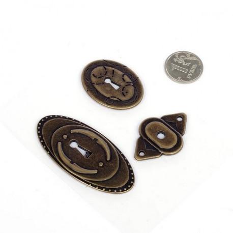Замочные скважины 3шт, декоративные элементы металл Mgic4Hobby