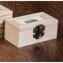Шкатулка деревянная с овальным окошком 9х5х4см АртУзор