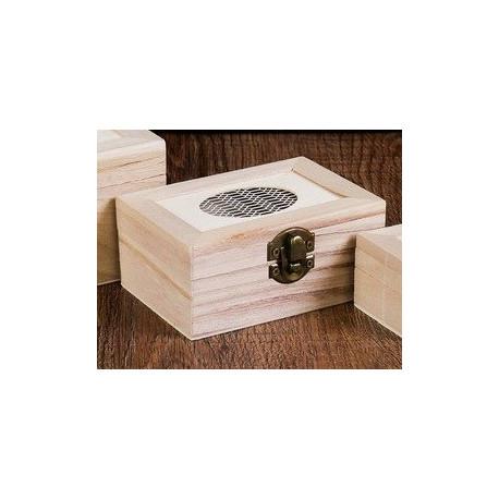 Шкатулка деревянная с овальным окошком 11,5х8х5,5см АртУзор