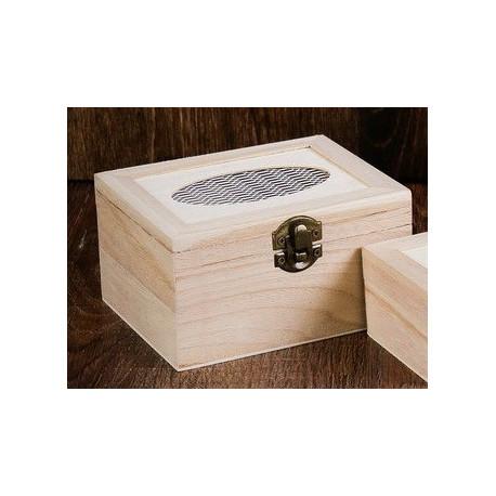 Шкатулка деревянная с овальным окошком 13,5х10,5х7,5см АртУзор