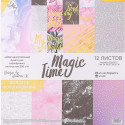 Magic Time, набор односторонней бумаги с фольгироованием 30,5*30,5см 12листов 200г/м АртУзор