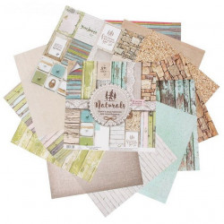 Naturals, набор двусторонней бумаги для скрапбукинга 30,5*30,5см 12листов 180г/м АртУзор