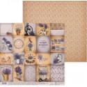 Карточки Lavender, двусторонняя бумага для скрапбукинга 30,5*30,5см 180г/м АртУзор