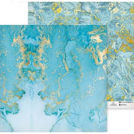 Благородный камень, двусторонняя бумага для скрапбукинга 30,5*30,5см 180г/м АртУзор