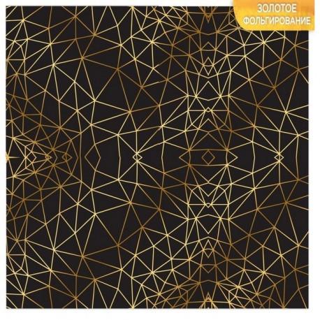 Иллюзия, односторонняя бумага с фольгированием 30,5*30,5см 180г/м АртУзор