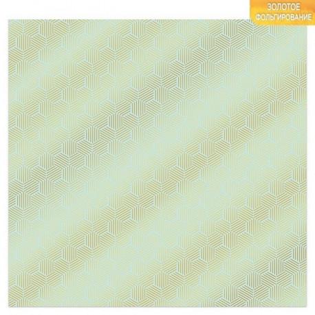 Соты, односторонняя бумага с фольгированием 30,5*30,5см 180г/м АртУзор