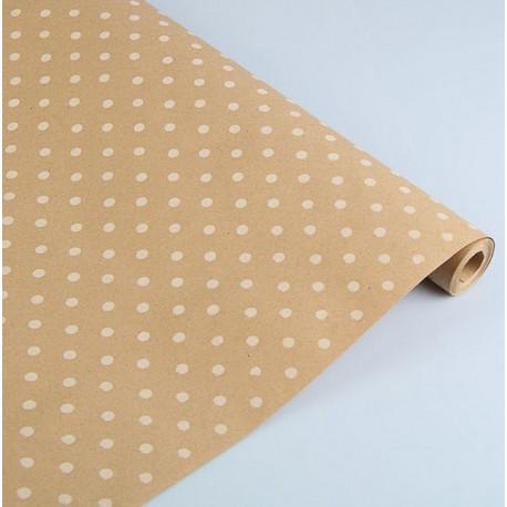 Горох белый, крафт бумага упаковочная 100х70см SL