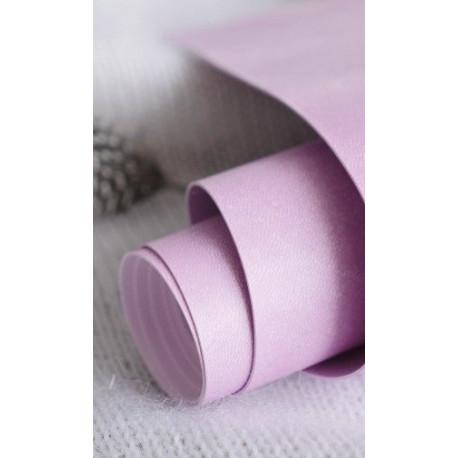 Зефирка(розово-сиреневый), переплетный кожзам для скрапбукинга 33х70(±1см) Италия