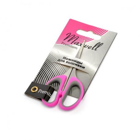 Ножницы для вышивки 105мм металл с прорезиненными ручками Maxwell premium