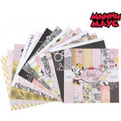 Stylish club М.Маус, набор двусторонней бумаги для скрапбукинга 29,5*29,5см 12листов 160г/м АртУзор