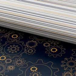 Стимпанк (глянцевая), бумага упаковочная двухсторонняя плотность 90г/м2, 100х70см