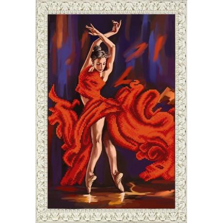 Танец страсти, ткань с рисунком для вышивки бисером 25х38см. Благовест