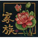 Семья, набор для вышивания крестиком, 21х22см, 18цветов Panna