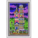 Милый дом, ткань с рисунком для вышивки бисером 23х29см. Благовест