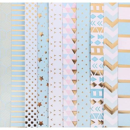 Радость дня, набор односторонней бумаги с фольгироованием 30,5*30,5см 10листов 200г/м АртУзор