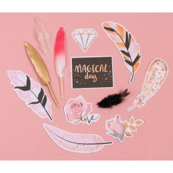Magical day, набор пёрышек для творчества 12шт. АртУзор