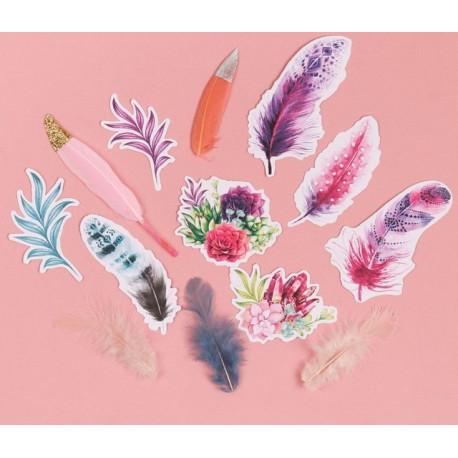 Райский сад, набор пёрышек для творчества 12шт. АртУзор