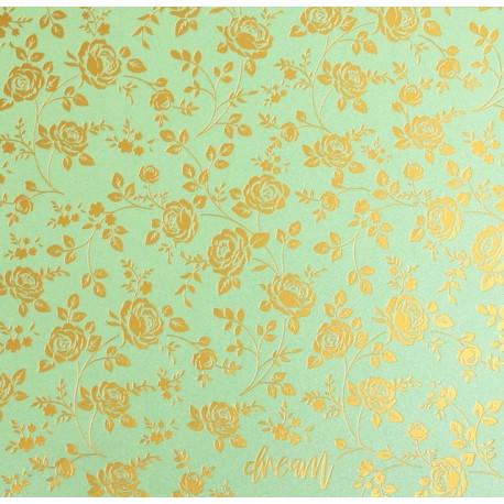 Мечтай, бумага для скрапбукинга жемчужная с тиснением 20х20см 160г/м2 односторонняя АртУзор