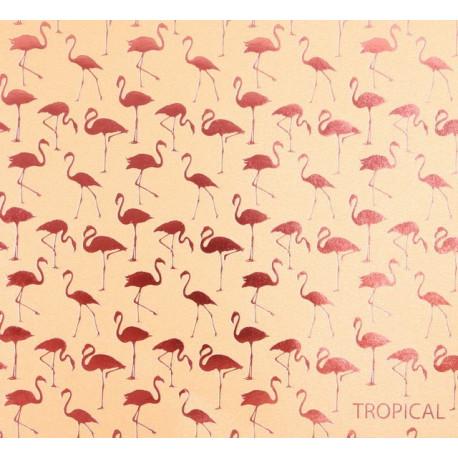 Тропики, бумага для скрапбукинга жемчужная с тиснением 20х20см 200г/м2 односторонняя АртУзор