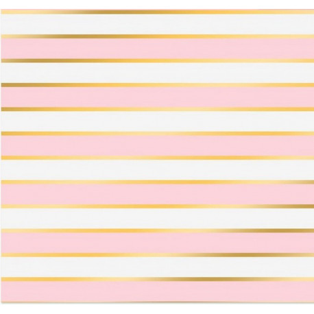 Розовые полосы, односторонняя бумага с фольгированием 30,5*30,5см 180г/м АртУзор