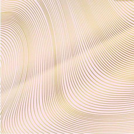 Волна, односторонняя бумага с фольгированием 30,5*30,5см 180г/м АртУзор