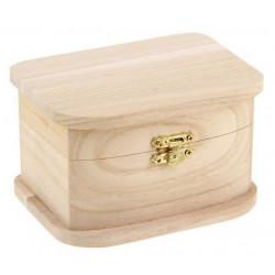 Сундучок, шкатулка деревянная 12,5х7,8х9см АртУзор