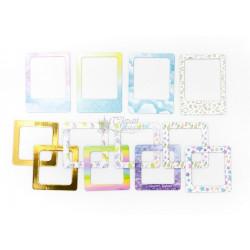 Единорожки, набор картонных рамочек для скрапбукинга 12шт Polkadot