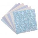 Малыш, набор тканей на клеевой основе 30х30(±2см) 6дизайнов АртУзор