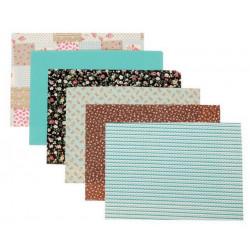 Краски лета, набор тканей на клеевой основе 21х29,5(±2см) 6дизайнов АртУзор