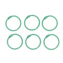Светло-зеленый, кольца для альбомов d3см 6шт металл АртУзор