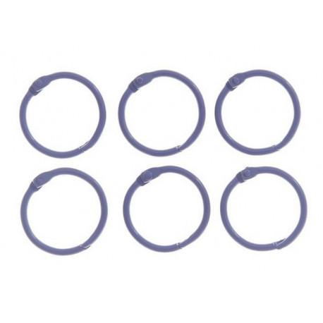 Сиреневый, кольца для альбомов d3см 6шт металл АртУзор