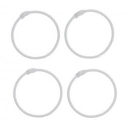 Белый, кольца для альбомов d4,5см 4шт металл АртУзор