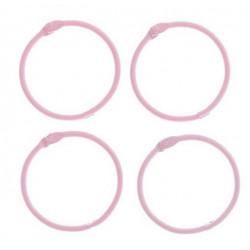 Светло-розовый, кольца для альбомов d4,5см 4шт металл АртУзор