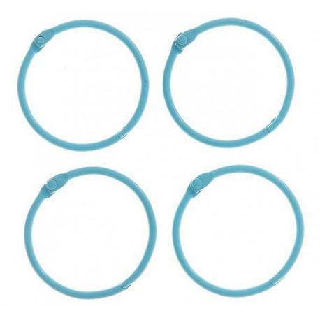 Светло-голубой, кольца для альбомов d4,5см 4шт металл АртУзор